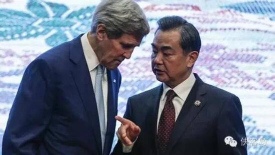 王毅同美国国务卿克里举行会谈。资料图