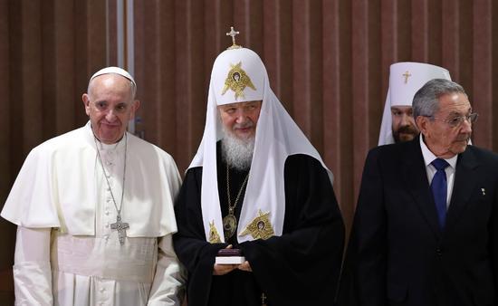 罗马教皇和俄东正教大牧首近千年来首次会面