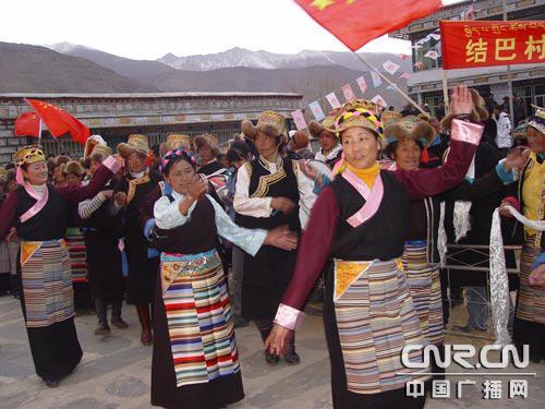 西藏山南地区乃东县结巴人民的幸福生活