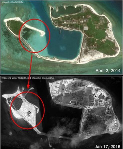 琛航岛岛屿缔造先后比照图