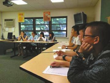 受训的小留学生。