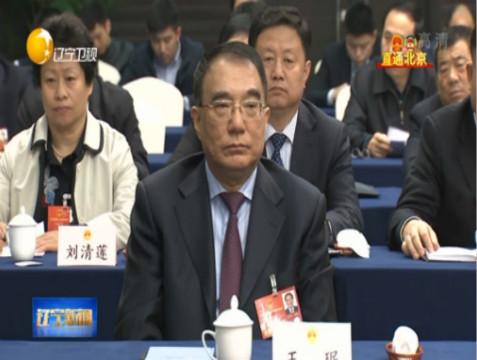 王珉出席辽宁省代表团会议