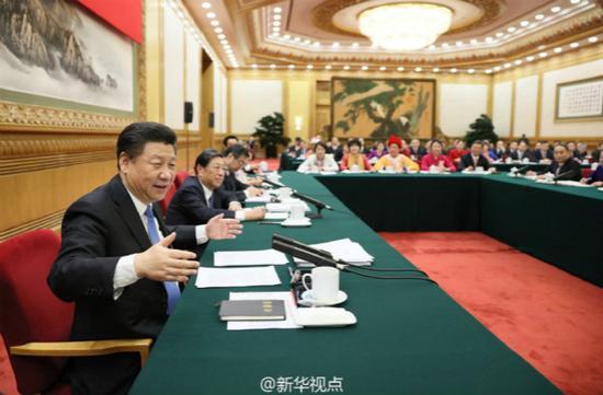 习近平参加湖南代表团审议。资料图