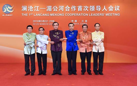 李克强欢送列席澜沧江—湄公河协作初次指导人集会的五国指导人