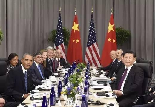 图为:当地时间2016年3月31日,国家主席习近平在华盛顿会议中心会见美国总统奥巴马。
