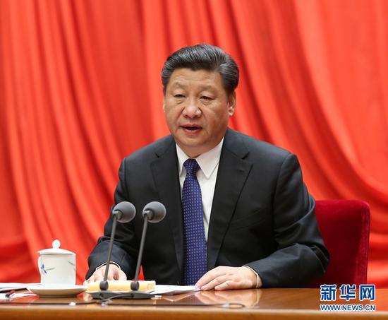 图为:2016年1月12日,中共中央总书记、国家主席、中央军委主席习近平在中国共产党第十八届中央纪律检查委员会第六次全体会议上发表重要讲话。