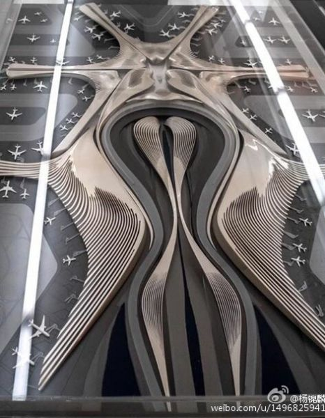 微博大V曝北京新机场设计图 引网友戏谑(图)|北京|新机场|设计图_新浪新闻