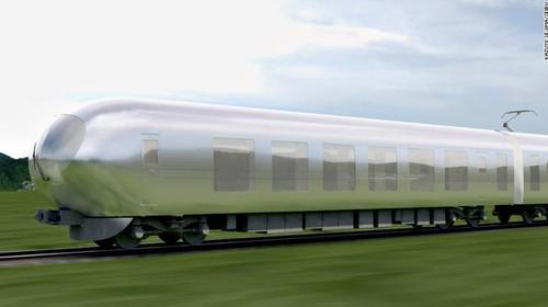 日本修建师描绘的隐形火车。