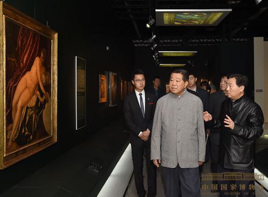 """贾庆林同道观光""""威尼斯与威尼斯画派""""展"""