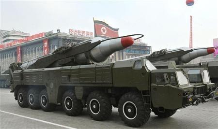 朝鲜阅兵。资料图