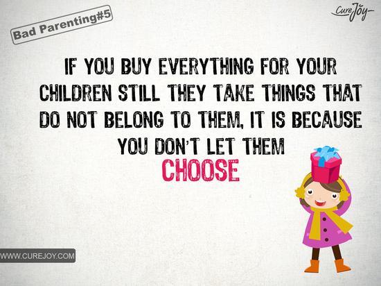 如果你什么都给孩子买,他们却还去拿不属于自己的东西,是因为你没有让他们自己选。