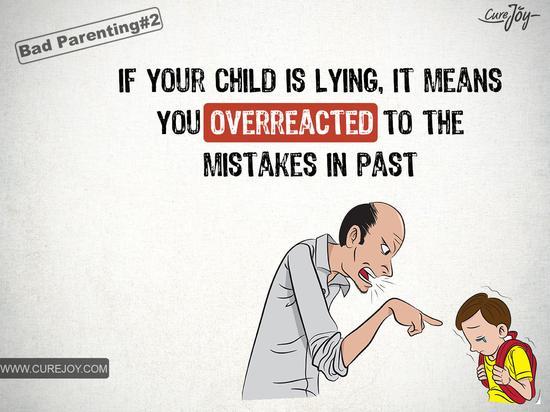如果你的孩子在撒谎,说明你曾经对他们所犯的错误反应过度。