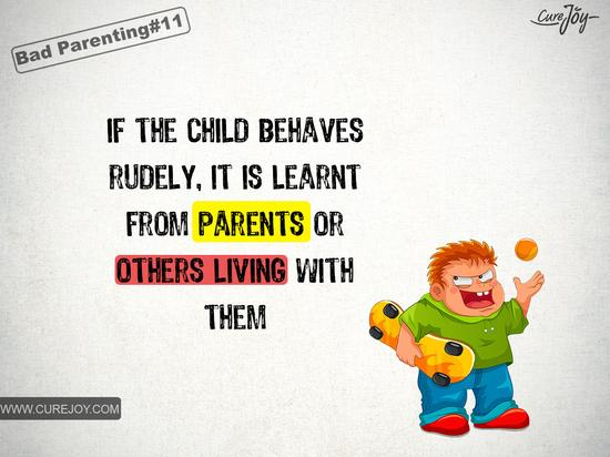 如果你的孩子很没礼貌,那是从父母或家中其他成员那里学来的。