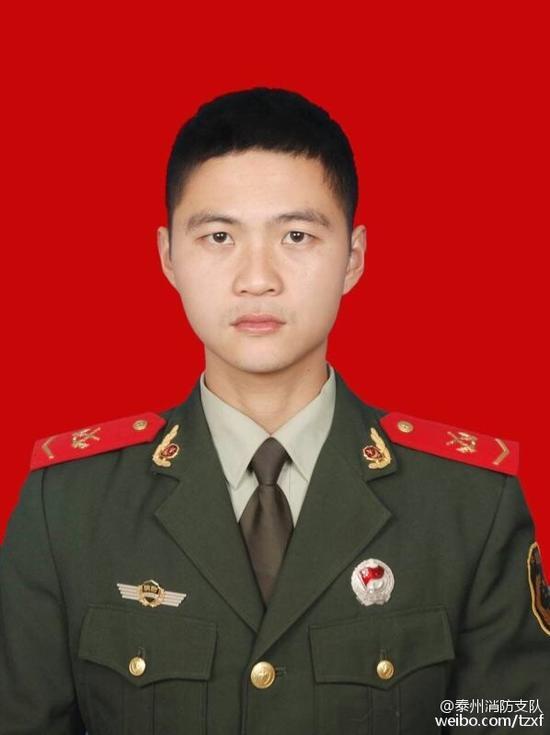 朱军军,资料图(来源泰州消防支队微博)