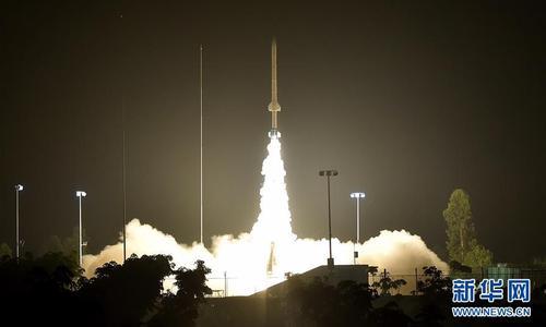 """4月27日,""""鲲鹏-1B""""863计划空间环境垂直探测试验探空火箭 发射升空。"""