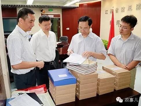 2015年9月,田野率队检查江苏水利系统