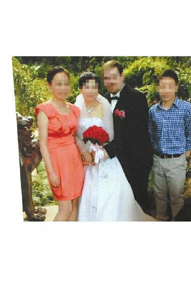 冷梦梅姨妈和姨父的婚礼照。