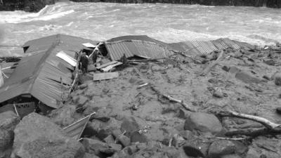 5月8日,在福建省泰宁县拍摄的因强降雨造成的山体滑坡事故现场(手机图片)。新华社发