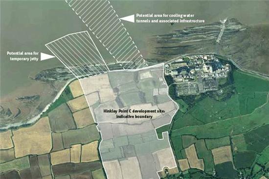 欣克利角C核电名目(HPC)厂址图
