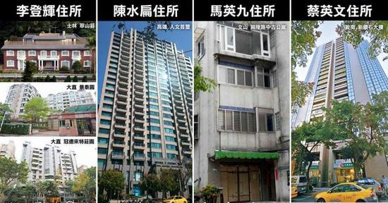 台湾历任领导人住宅对比