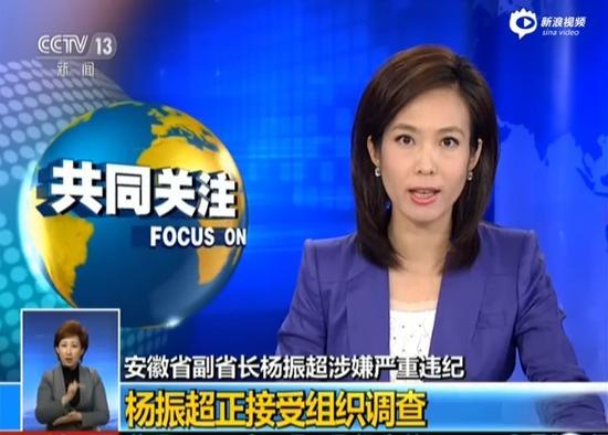 安徽副省长杨振超接受调查
