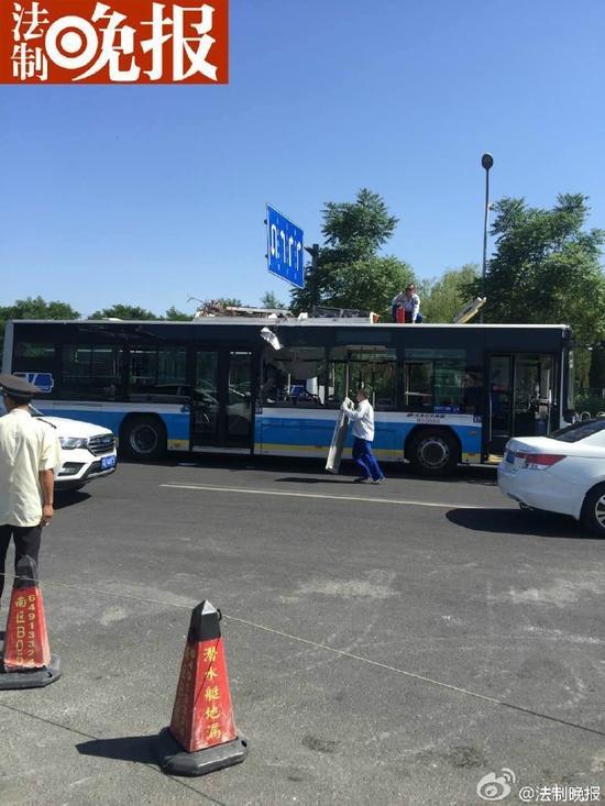 事发公交车