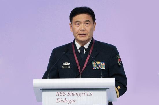 资料图:中央军委联合参谋部副参谋长孙建国出席香格里拉对话会