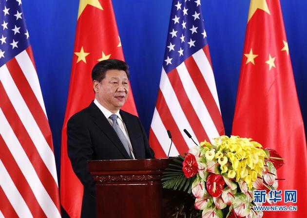 6月6日,国家主席习近平出席在北京钓鱼台国宾馆举行的第八轮中美战略与经济对话和第七轮中美人文交流高层磋商联合开幕式,并发表题为《为构建中美新型大国关系而不懈努力》的重要讲话。新华社记者 鞠鹏 摄