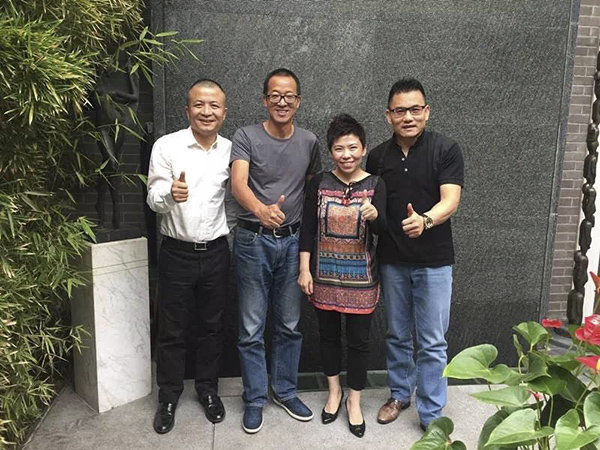 邓亚萍和创业伙伴王胜江、俞敏洪、盛希泰。