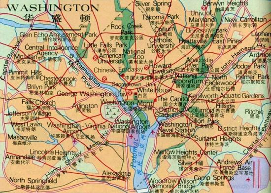 华盛顿60多万人口共享了105