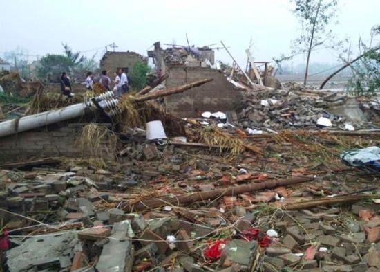 阜宁射阳等地区发生龙卷风冰雹已致51人死亡