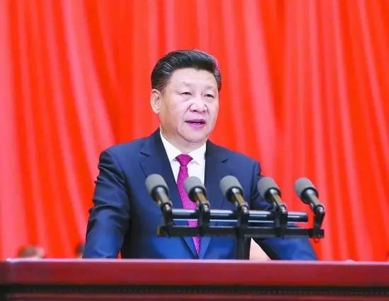 7月1日,习近平在庆祝中国共产党成立95周年大会上发表重要讲话。新华社记者 刘卫兵/摄