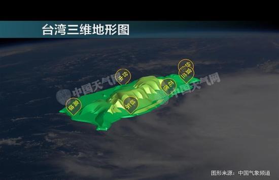 台湾三维地形图