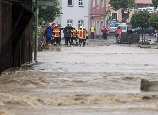 2016年5月到6月,德国南部强降雨招致洪灾(图片起源:cfp)