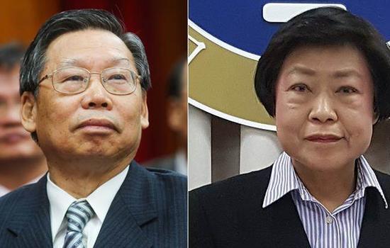 """被蔡英文提名的台湾""""司法院""""正副""""院长""""人选谢文定与林锦芳"""