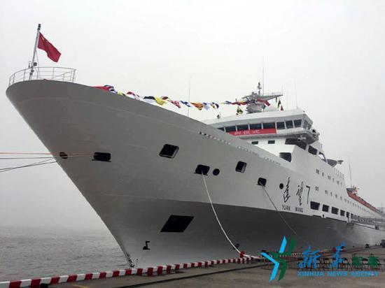 我国新一代近海航天丈量船了望7号船正式出列。新华社记者王玉山摄