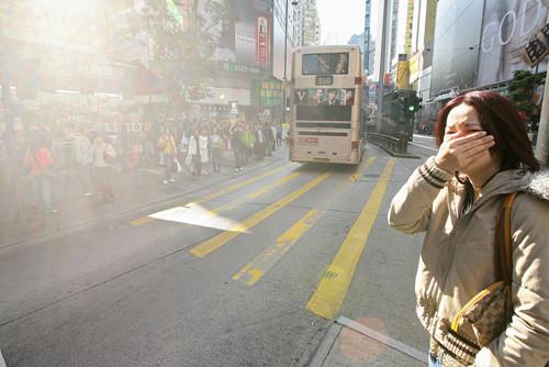 环保团体发现香港空气二氧化氮平均浓度长期超出世卫安全标准。(香港《大公报》资料图片)