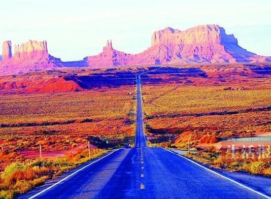 """美国66号公路号称""""天堂之路"""""""
