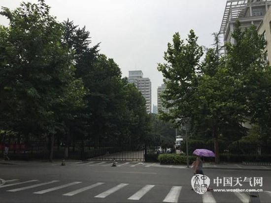 24日白天,北京天气闷热。(刘文静 摄)