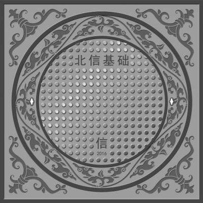 ▲新井盖上的纹样取自故宫三大殿御道台阶上的纹路,先停止立体取样、计算机制造,通过加工后依据井盖的外形停止变形,再开模具。