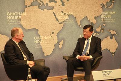 驻英国大使刘晓明就南海问题在英国皇家国际问题研究所演讲答问
