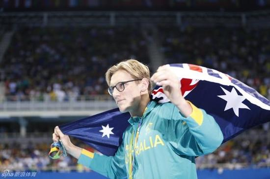 获得金牌的澳大利亚选手霍顿