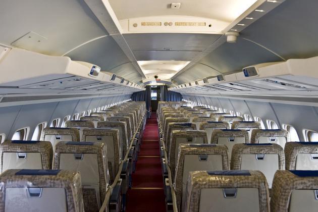 资料图:飞机机舱。