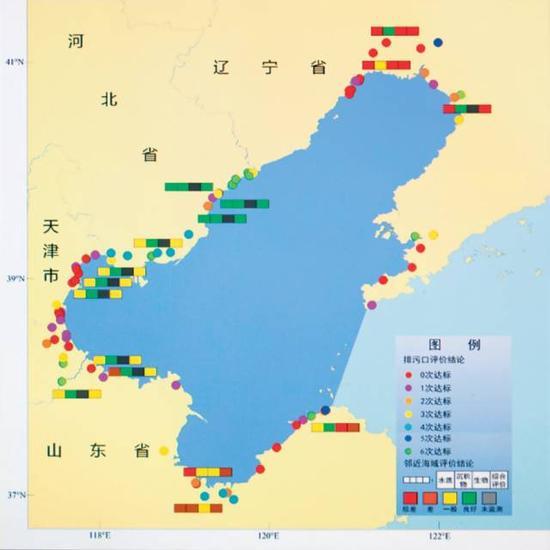 2014 年渤海监测的陆源入海排污口状况