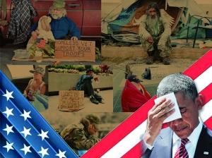"""8月初,奥巴马在亚特兰大举行的美国残疾退伍军人协会大会上自豪地宣布,无家可归的退伍军人数量已减少了近一半。但美国媒体评论,奥巴马政府所谓的彻底解决退伍军人无家可归问题的承诺""""破产""""了。"""
