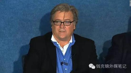 """""""街霸""""班农现在负责特朗普的竞选事务 (图片来源:cnn.com)"""