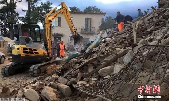 意大利地震已致159人遇难 3/4个镇子消失(图)