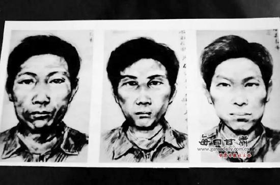 警方已经颁布的嫌犯画像。