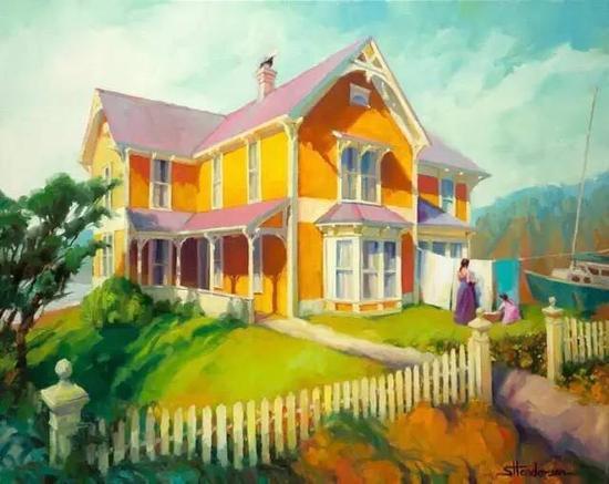 题图来自美国艺术家Steve Henderson