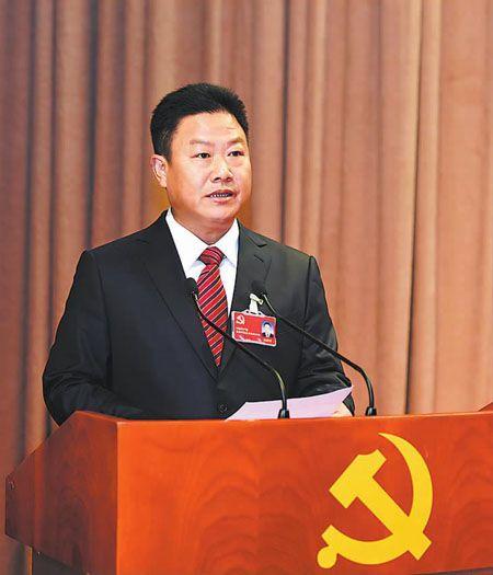 罗应光同志代表中国共产党玉溪市第四届委员会向大会作工作报告